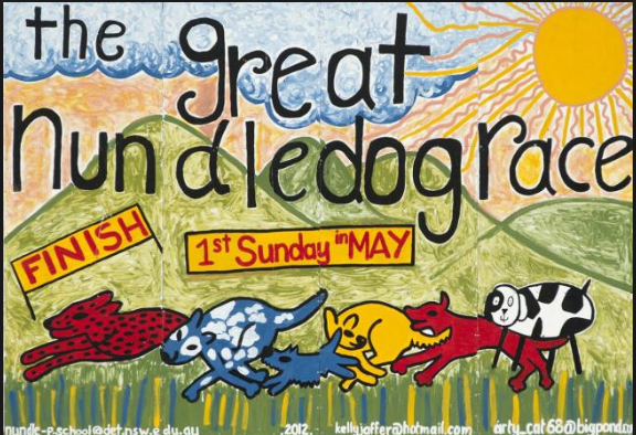 The Great Nundle dog race poster